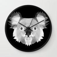 koala Wall Clocks featuring Koala by Taranta Babu