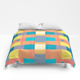 Abstract Chequered Pattern Comforters