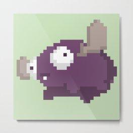 Pixel Mini Moose Metal Print