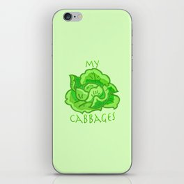 my cabbages! iPhone Skin