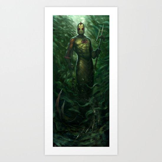 Sea-Bolt Art Print