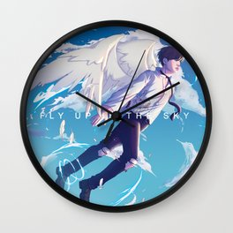 Fly up to the Sky Wall Clock