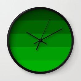 Irish Kelly Green Ombre Stripes Wall Clock