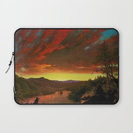 Twilight in the Wilderness by Frederic Edwin Church Laptop Sleeve