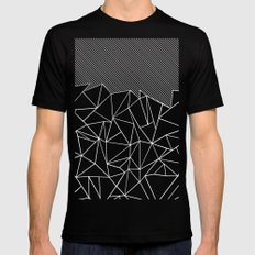 Ab Lines 45 Black MEDIUM Mens Fitted Tee Black
