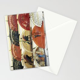 Spanish Scratched Fans Stationery Cards