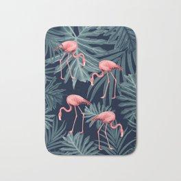 Summer Flamingo Jungle Night Vibes #1 #tropical #decor #art #society6 Bath Mat