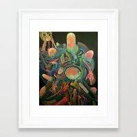 frankenstein Framed Art Prints featuring Frankenstein by Haslin