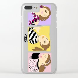 Knock Knock! Chaeyoung Version Clear iPhone Case