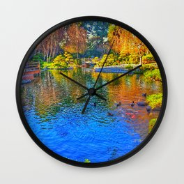 Painted Pond Wall Clock