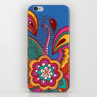 henna iPhone & iPod Skins featuring Henna Colour by nicky9