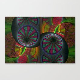 Tunneling Abstract Fractal Canvas Print