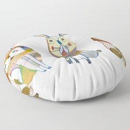 Rabbits Floor Pillow