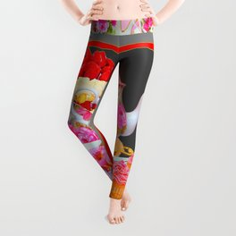 AFTERNOON TEA PARTY  & PASTRY  DESSERTS Leggings