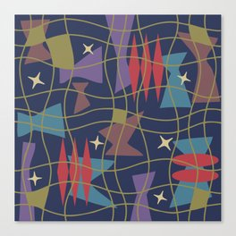 Mid Century Modern Abstract Pattern 582 Canvas Print