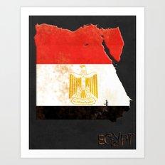 Egypt Vintage Map Art Print