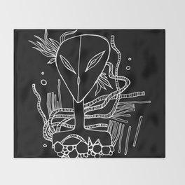 Alien-teenager from Orion Throw Blanket
