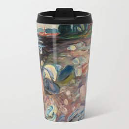 "Edvard Munch ""Shore with Red House"", 1904 Travel Mug"
