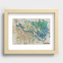 Amsterdam, the watercolor beauty Recessed Framed Print