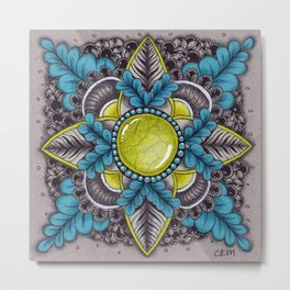 Ornate Sunstone Metal Print