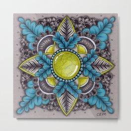 Ornate Sunstone Metal Print