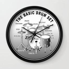 The Basic Drum Set Wall Clock