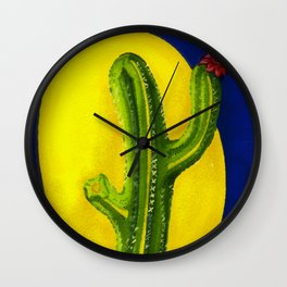 the Cactus' Journey of Growth Wall Clock