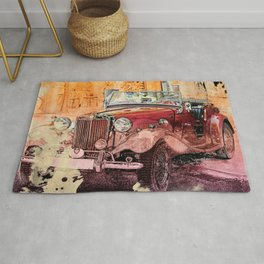 Watercolor Roadster Rug