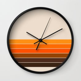 Golden Spring Stripes Wall Clock