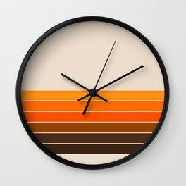 Golden Spring Stripes Wall Clock