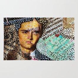Man and Machine - Magazine Collage Painting Rug