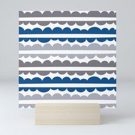 Mordidas Lapis Blue Mini Art Print