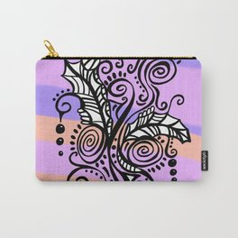 Freestyle Doodle Marker Design - Purple Peach Carry-All Pouch