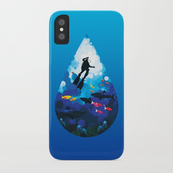 Diver of the Blue iPhone Case