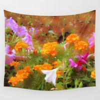 fairies Wall Tapestries featuring Every little garden seems to whisper a tune by Donuts