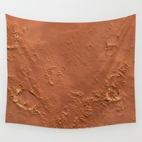 geology Wall Tapestries featuring Mars Surface by Space99
