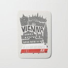 Vienna City Print Bath Mat