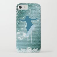 snowboarding iPhone & iPod Cases featuring Snowboarding by nicky2342