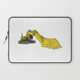 Yellow Backhoe Loader Laptop Sleeve