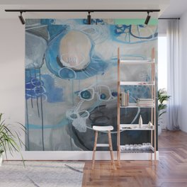 Misty Morning Abstract Wall Mural