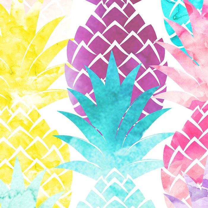 Hawaiian Pineapple Pattern Tropical Watercolor Leggings