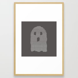 Ghost Typography Framed Art Print