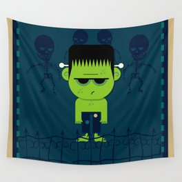 Pouty Monster Wall Tapestry