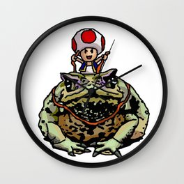 Toad Racing Wall Clock