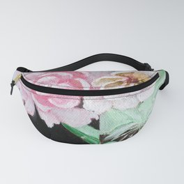 Cherry Blossoms in Green Glass Fanny Pack