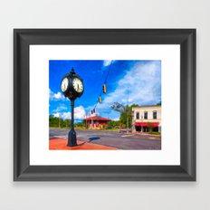Small town Style - Montezuma Georgia Framed Art Print