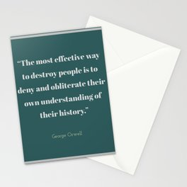 To Obliterate Their History Stationery Cards