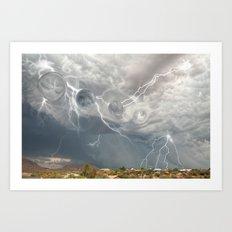 Arrival of the Monsoon Storm Generator Art Print