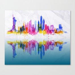 Color New York Skyline 02 Canvas Print