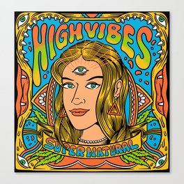 High Vibes Canvas Print